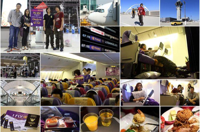 เดินทาง 18 ชั่งโมง การบินไทย เส้นทาง BKK-ICN-LAX บินไกลสู่ลอสแอนเจลิส